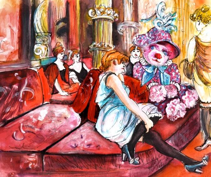 Bearnadette In The Salon In The Rue Des Moulins S