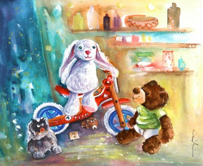 A White Rabbit On A Bike S