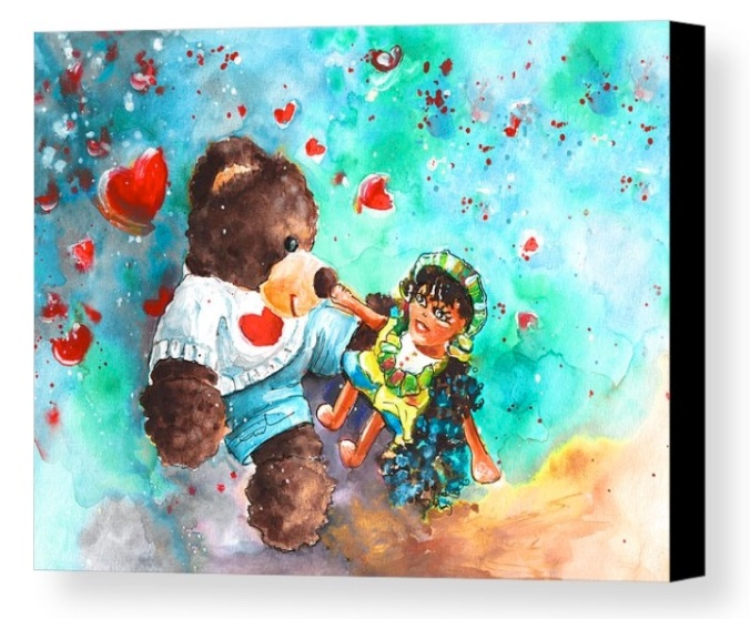 Go Teddy Canvas Print