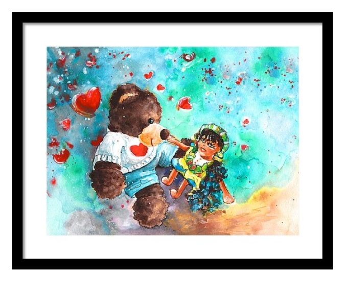 Go Teddy Framed Print