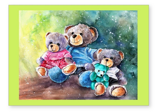 Go Teddy Greeting Cards