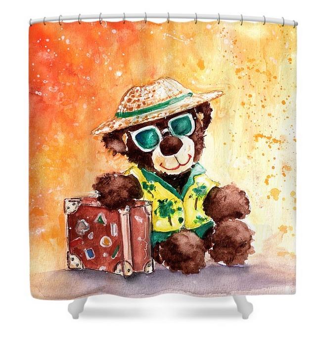go teddy shower curtains