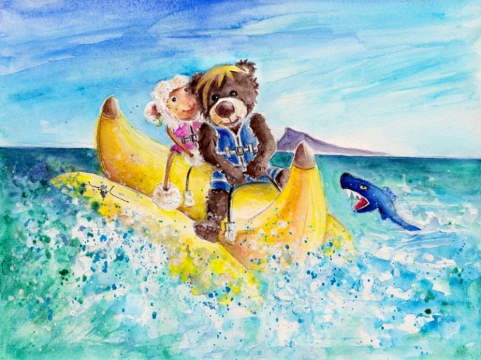 Mary And Truffle McFurry On The Banana In Benidorm S