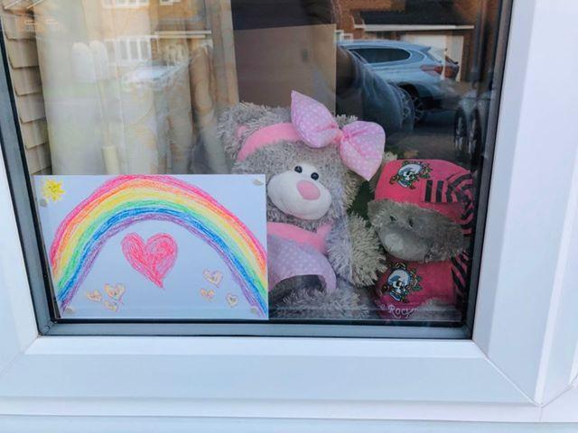 Rainbow and Bears Window 02